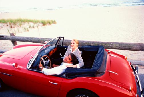 Couple in Red Custom Kit Car