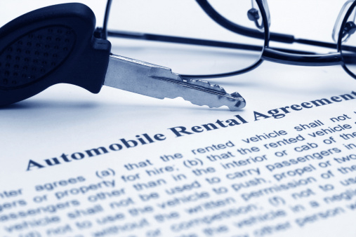 Car Keys and Rental Agreement