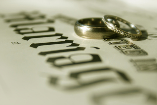 Marriage License and Wedding Rings