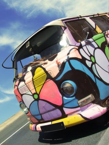 Painted Volkwagen van